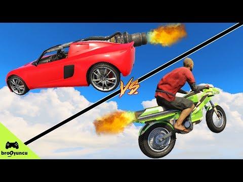 ROKET MOTOR VS ROKET ARABA - GTA 5