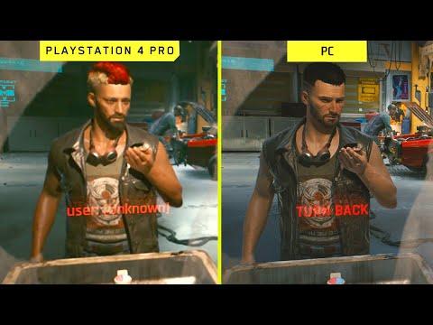 Cyberpunk 2077 PS4 Pro vs PC Early Graphics Comparison