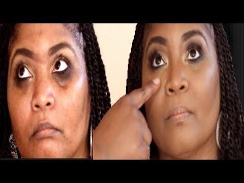 HOW TO: WOMEN OVER 40 EASILY COVER THOSE DARK CIRCLES 3 STEPS | Darbiedaymua