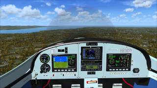 FSX Just Flight  CZAW SportCruiser (Piper Sport) Take off and landing at Liverpool Airport
