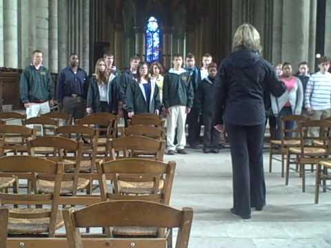Firestone Choir singing in Rheim Cathedral pt.2