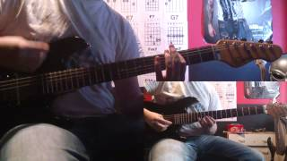 """Metal Gear Rising """"Jetstream Sam"""" Theme Guitar Cover + TAB + Lyrics(Only Thing I Know For Real)"""