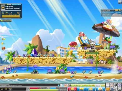 Maplestory Theme Dungeon Gold Beach) Part 2 - YouTube