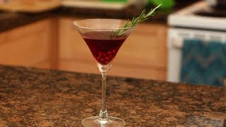 Pomegranate Rosemary Martini Recipe, Healthy Cocktails, Fit How To