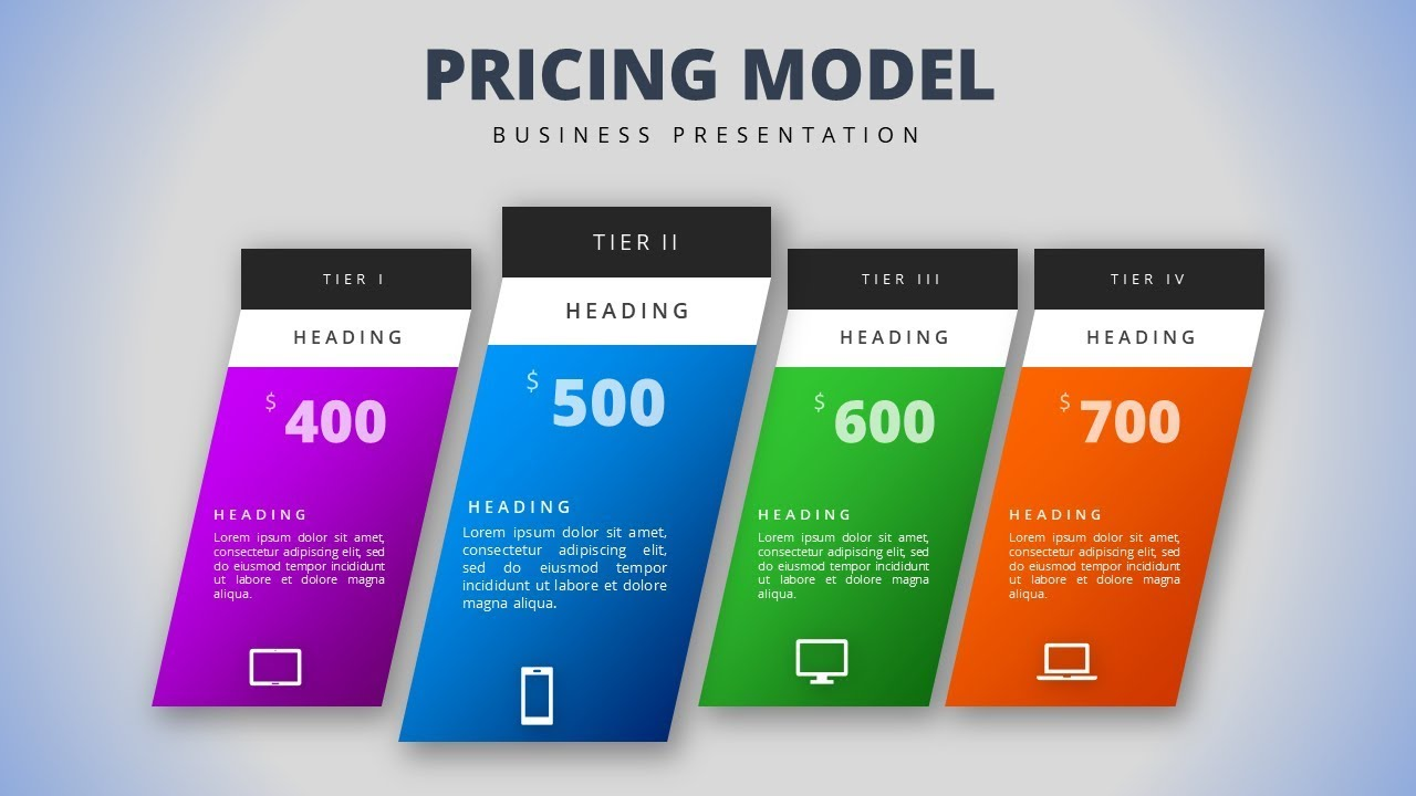 how to create a pricing model template design in microsoft office powerpoint ppt
