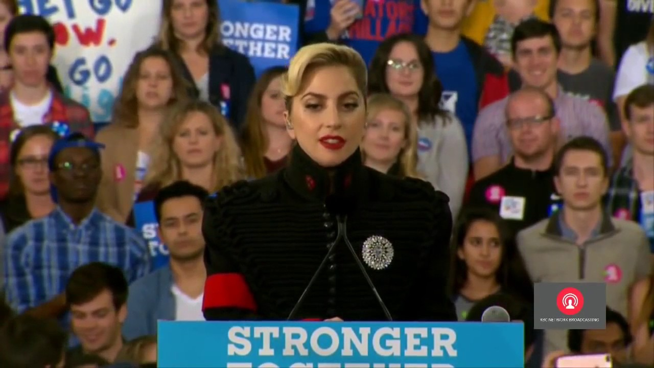 Download Lady Gaga Speech At Hillary Clinton's Final Campaign in Raleigh, North Carolina 11 7 2016
