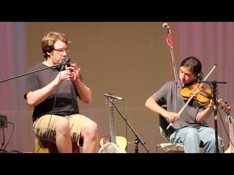 Chris Gray and Gus LaCasse on Acadian Night at Trad School