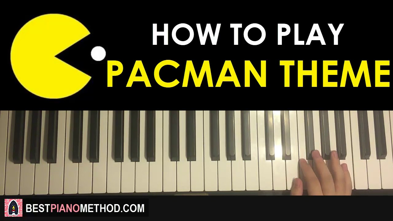 How To Play Pacman Original Theme Piano Tutorial Lesson Youtube