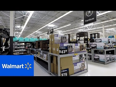 WALMART FURNITURE SOFAS HOME DECOR - SHOP WITH ME SHOPPING STORE WALK THROUGH 4K