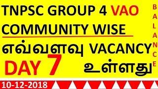 TNPSC VAO COMMUNITY WISE  DAY 7 எவ்வளவு VACANCY உள்ளது  COUNSELLING