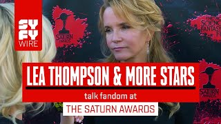 Lea Thompson & Lindsey Morgan Talk Scifi & Horror Fans At The Saturn Awards   SYFY WIRE