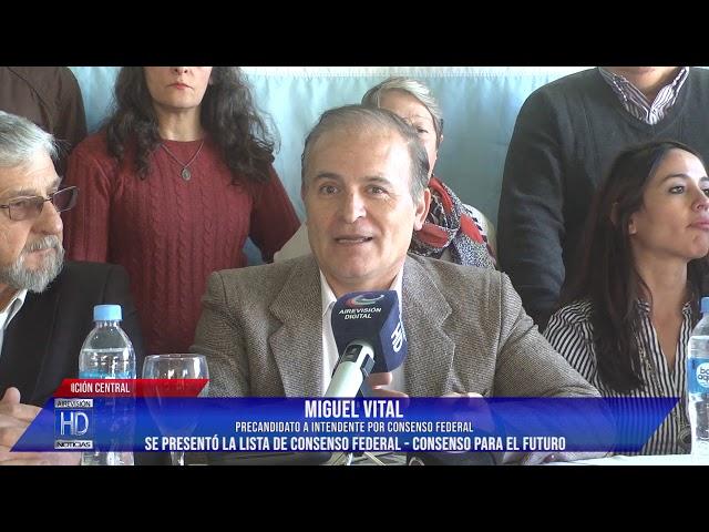 Se presentó la lista de Consenso Federal Vital Orioli