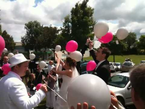 lacher de ballon mariage marina et gwen - Lacher De Ballon Mariage