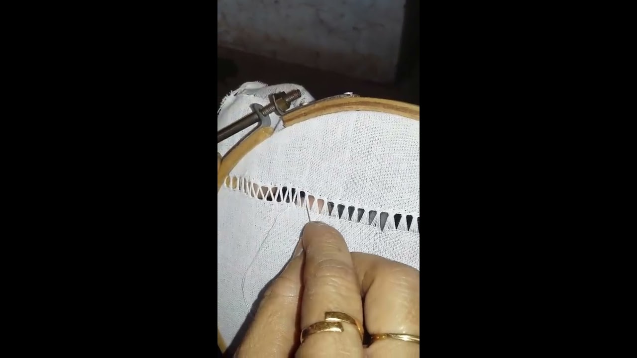 cba0fb5c6 Drawn thread work - 8 - YouTube