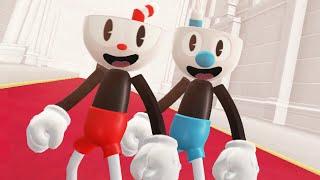 Super Mario Odyssey - Cuphead & Mugman Final Boss + Ending