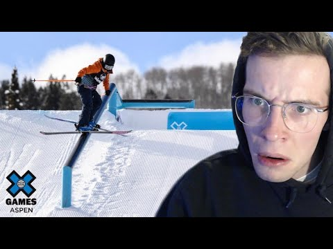 180lb Skier Reacts to X Games Slopestyle 2021... |