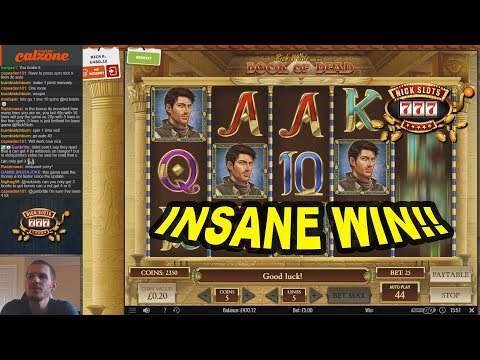 INSANE WIN on Book of Dead Slot - £5 Bet