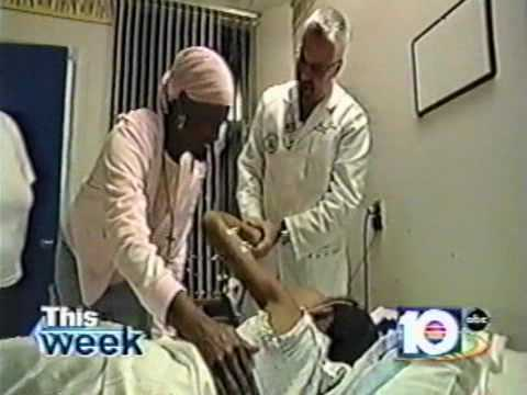 Dr. Parsa's 17 hour surgery to remove a major facial tumor on a Haitian girl.