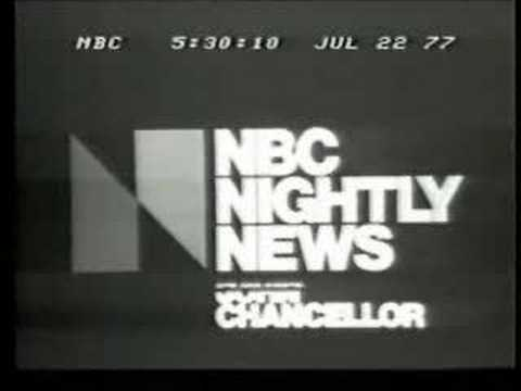 NBC News Leadoff Trailer, July 22, 1977, Johnstown Flood