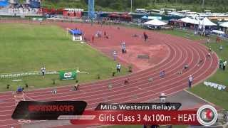 Hydel edges Edwin Allen, wins Girls Class 3 4x100m Relay - Milo Wester Relays - ROAD TO CHAMPS 2014