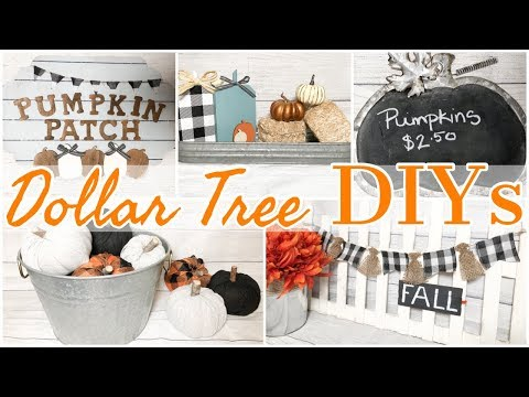 DIY DOLLAR TREE FALL DECOR | 5 NEW FALL DOLLAR TREE DIY PROJECTS