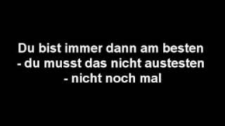 Die Ärzte - Lied vom scheitern / Lyrics