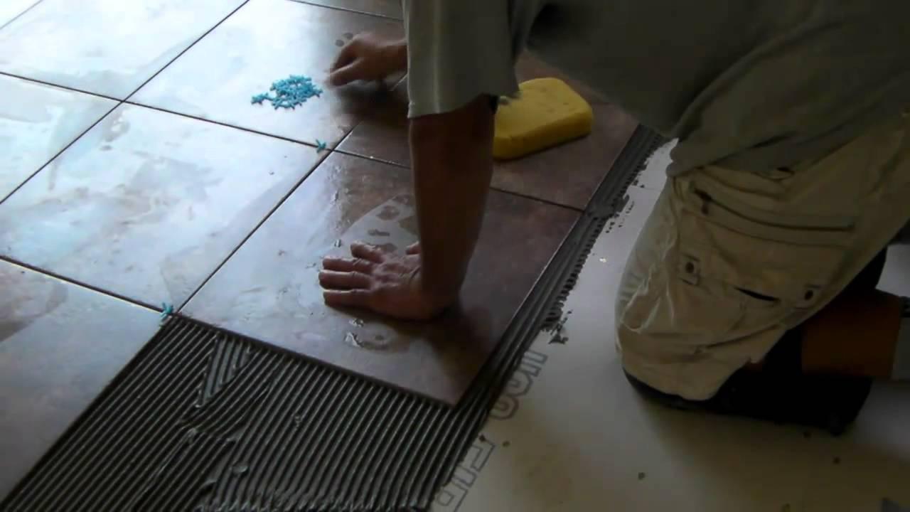 installing ceramic tiles