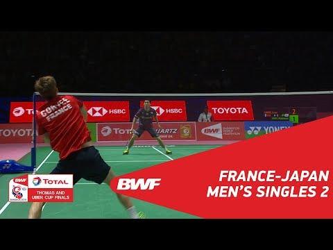 Thomas Cup | MS2 | Lucas CORVEE (FRA) vs Kazumasa SAKAI (JPN) | BWF 2018