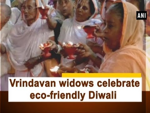 Vrindavan widows celebrate eco-friendly Diwali - Uttar Pradesh #News