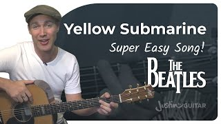 Yellow Submarine - The Beatles (Very Easy Songs Beginner Guitar Lesson BS-305) How to play