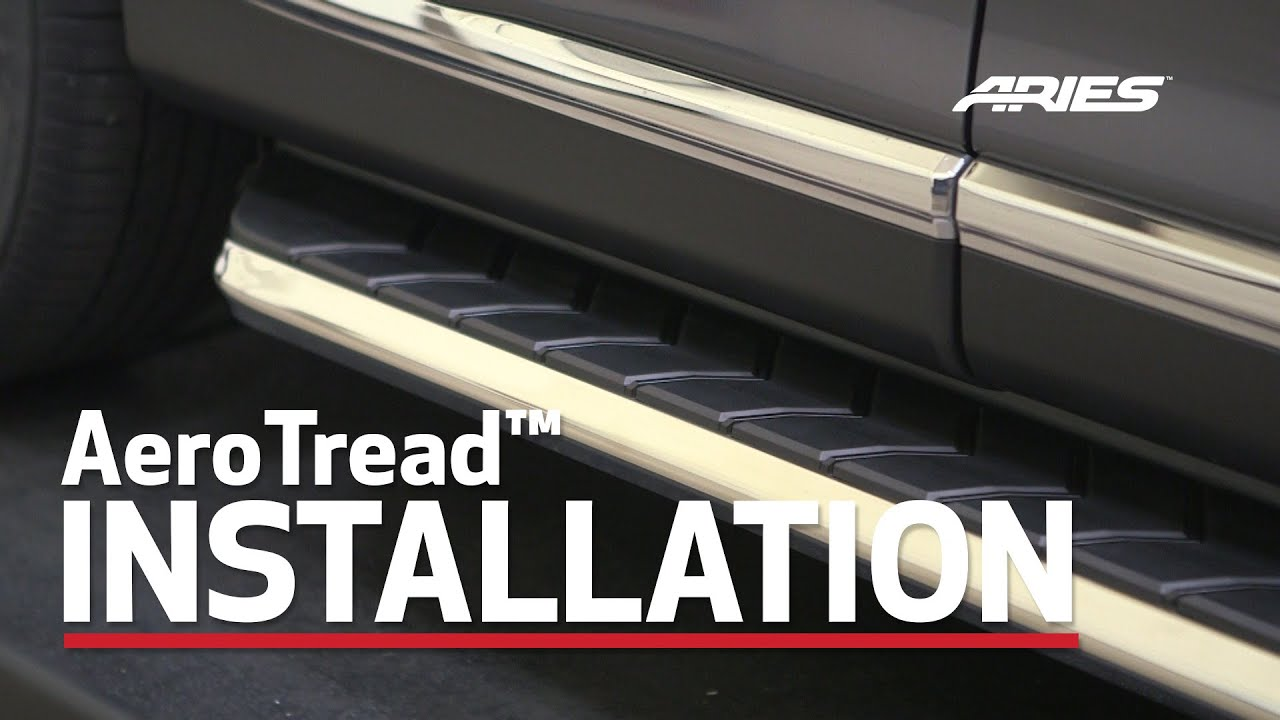 "Aries Running Boards >> ARIES AeroTread™ Install: 70"" Running Boards on Toyota Highlander Bracket 2051153 - YouTube"
