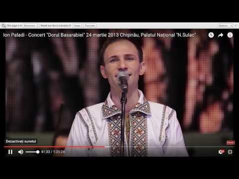 """Ion Paladi - Concert  """"Dorul Basarabiei"""" 24 martie 2013 Chișinău, Palatul Național """"N.Sulac"""""""