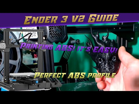 How to Print ABS on the Ender 3 v2! it's Easy!