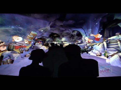 Seven Dwarfs Mine Train coaster virtual POV ride for Walt Disney World