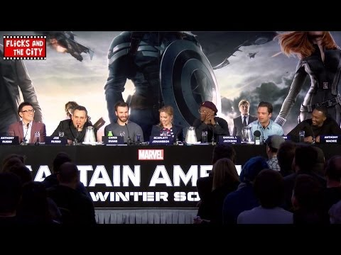 Captain America The Winter Soldier Interviews - Chris Evans, Scarlett Johansson, Samuel L. Jackson
