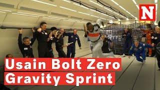 Usain Bolt Sprints In Zero Gravity