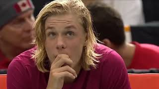 Denis Shapovalov Hit the umpire in face and disqualified in  2017 Davis Cup