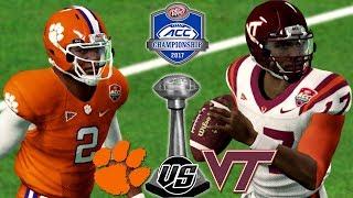 NCAA Football 18 Dynasty 🏈 ACC🏆Championship Thriller! #16 Clemson vs. #13 Virginia Tech Gameplay🔥