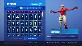 All my fortnite dances with the starter pack skin