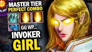 "Is This Enough For ""THE BEST INVOKER GIRL""?  Perfect Gameplay By Invoker Girl + Combo Cataclysm"