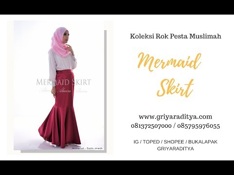 Rok Panjang Pesta Elegan Mermaid Skirt Griyaraditya 081372507000