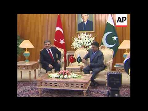Turkey's Pres first foreign president to visit since Musharraf's inauguration