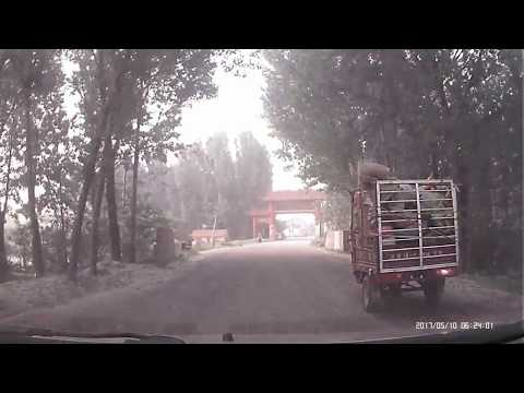 Driving In China: Hometown Village Morning Road Driving in Shandong Laiwu