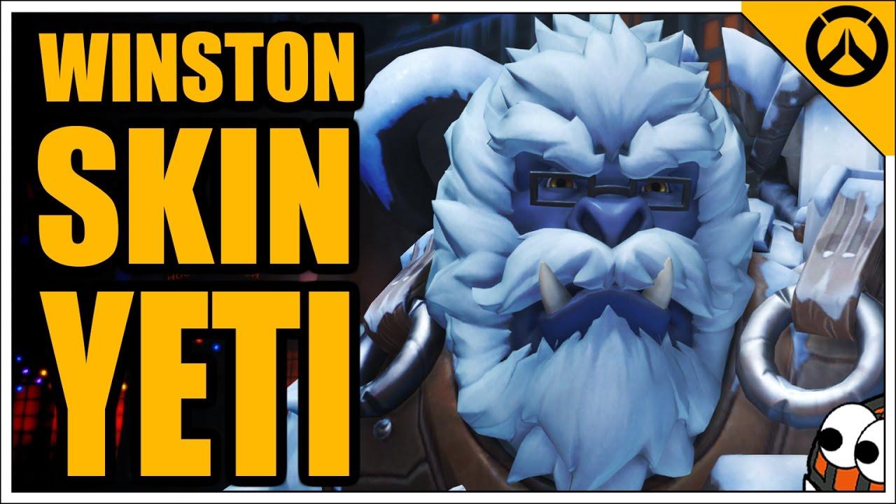 Winston Christmas Skin.Winston Yeti Skin Christmas Event All Highlight Intros Emotes Victory Poses Golden Gun