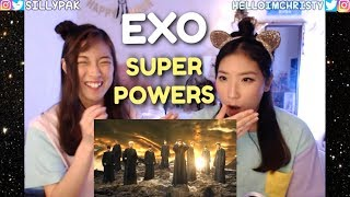 EXO 엑소 SUPERPOWERS! EXO'rDIUM INTRO STORY OF THE PAST VCR Sisters Reaction