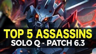 Top 5 Assassins Mid For Solo Queue - Patch 6.3 - League of Legends