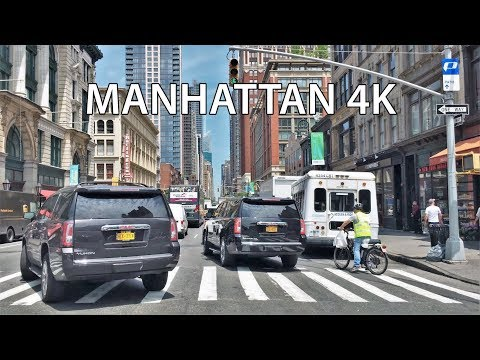 Driving Downtown - Manhattan 4K - New York City USA