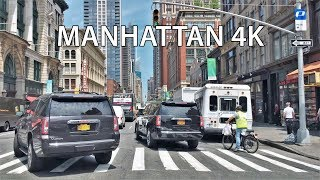 Driving Downtown   Manhattan 4K   New York City USA