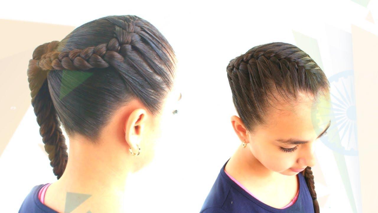 Peinado Con Trenza Regreso A Clases Peinado Facil Para Cabello