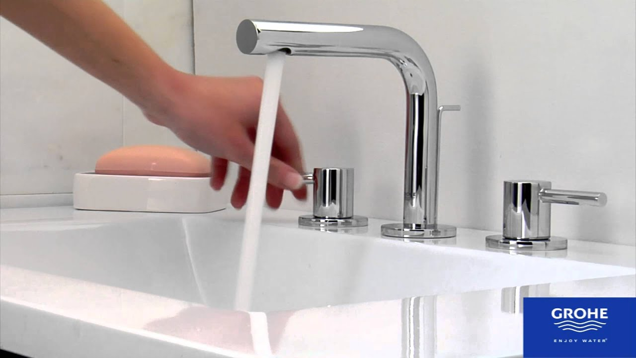 grohe 20297000 essence bathroom faucet youtube. Black Bedroom Furniture Sets. Home Design Ideas